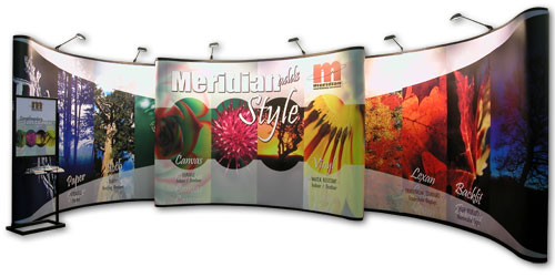 Three Trade Show 8x10 Pop Up Floor Displays for SuperSizeMyGraphics Meridian image